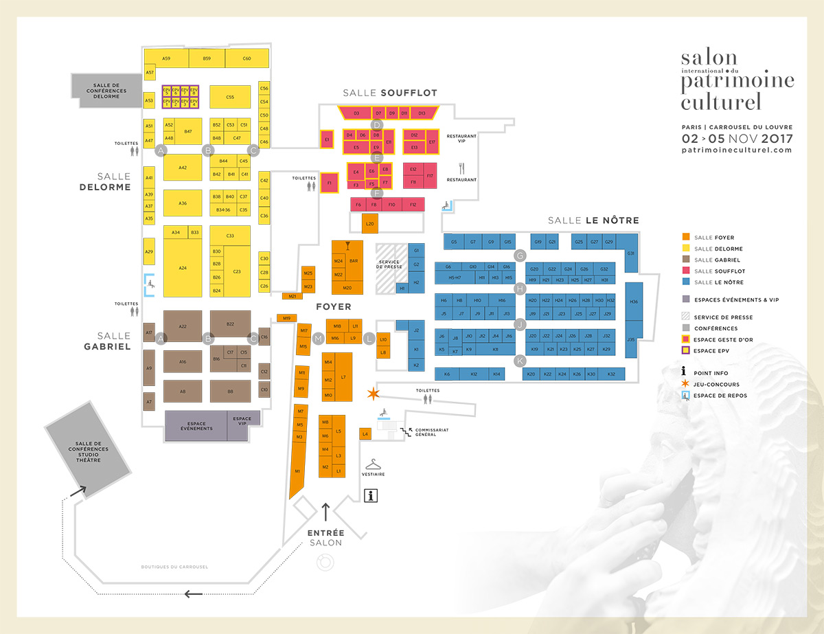Plan du salon 216