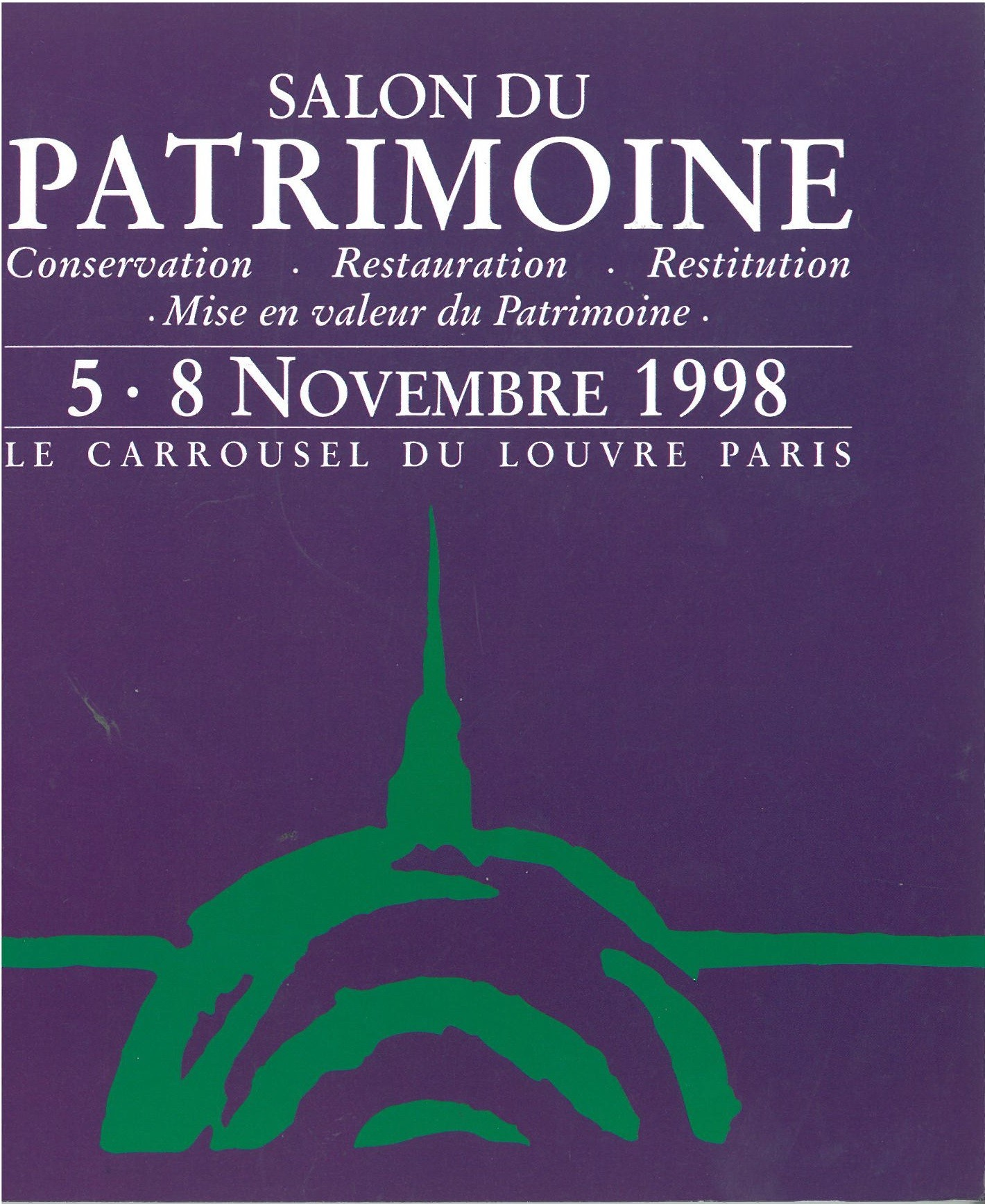 1998 salon international du patrimoine culturel for Salon du patrimoine 2017